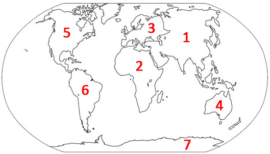 Continents of the World Quiz Activity  Continents and Oceans Quiz