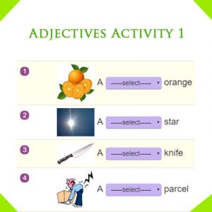 Adjectives Activity 1 Adjectives Activity 1