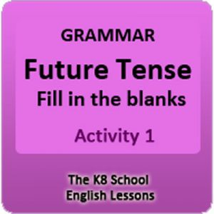 Future Tense Grammar Activity 1 Future Tense Grammar Activity 1