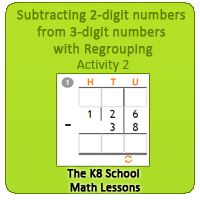 Subtracting-2digit-numbers-from-3digit-numbers-with-Regrouping-Activity-2