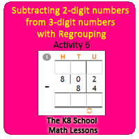 Subtracting-2digit-numbers-from-3digit-numbers-with-Regrouping-Activity-6