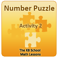Mathematics Number Puzzle Activity 2 for Year 2