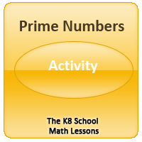 Finding the Perimeter Activity 1 Prime Numbers – Activity