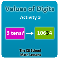 Mathematics Digit Values Activity 3