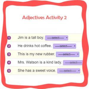 Adjectives Activity 2 Adjectives Activity 2