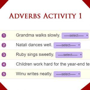 Adverbs Activity 1 Adverbs Activity 1