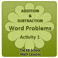 Word Problems – Addition & Subtraction – Activity 1 Word Problems – Addition & Subtraction – Activity 1