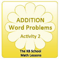 Addition Word Problems – Activity 2 Addition Word Problems – Activity 2