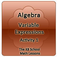 Mathematics Algebra – Variable Expression – Activity 1