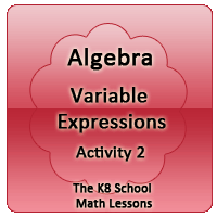 Mathematics Algebra – Variable Expression – Activity 2