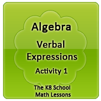 Mathematics Algebra – Verbal Expressions – Activity 1