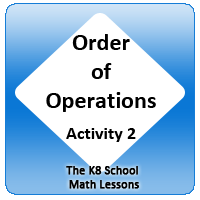 Mathematics Order of operations – Activity 2