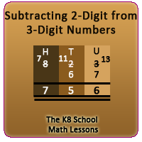 2-digit from 3-digit Subtraction with Regrouping