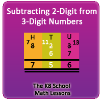 Subtracting 2-digit numbers from 3-digit numbers - Regrouping