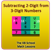 Subtraction 2-digit numbers from 3-digit numbers – Regrouping