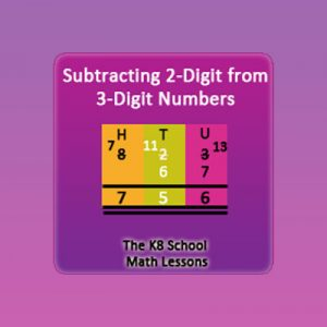 Subtracting 2-digit numbers from 3-digit numbers – Regrouping Subtracting 2-digit numbers from 3-digit numbers – Regrouping
