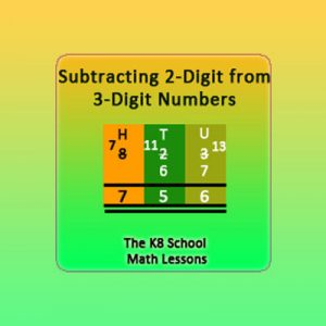 Subtracting 2-digit from 3-digit numbers with borrowing method Subtracting 2-digit from 3-digit numbers with borrowing method