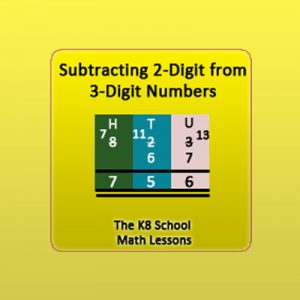 Subtraction 2-digit from 3-digit numbers with Regrouping Subtraction 2-digit from 3-digit numbers with Regrouping