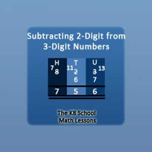 Subtracting 2-digit from 3-digit with Regrouping Subtracting 2-digit from 3-digit with Regrouping