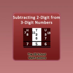3-digit take away 2-digit with Regrouping 3-digit take away 2-digit with Regrouping