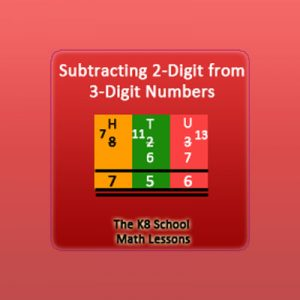 Subtracting 2-digit from 3-digit numbers with Regrouping Subtracting 2-digit from 3-digit numbers with Regrouping