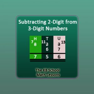 Subtraction 2-digit from 3-digit numbers with borrowing method Subtraction 2-digit from 3-digit numbers with borrowing method