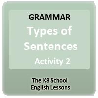 Sentence Types Sentence Types