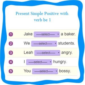 Present Simple Positive with Verb be 1 Present Simple Positive with Verb be 1