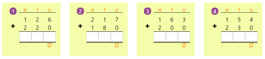 Adding 3-digit Numbers in Columns without Regrouping 1 Adding 3-digit Numbers in Columns without Regrouping 1