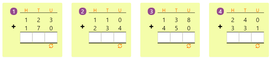 Adding 3-digit Numbers in Columns without Regrouping 2 Adding 3-digit Numbers in Columns without Regrouping 2