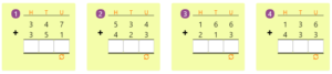 Adding 3-digit Numbers in Columns without Regrouping 4 Adding 3-digit Numbers in Columns without Regrouping 4