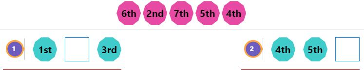 Kindergarten Ordinal Numbers 1 Kindergarten Ordinal Numbers 1