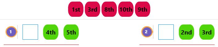 Kindergarten Ordinal Numbers 2 Kindergarten Ordinal Numbers 2