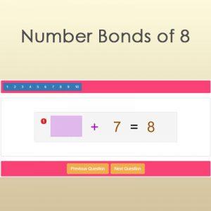 Number Bonds of 8 Number Bonds of 8