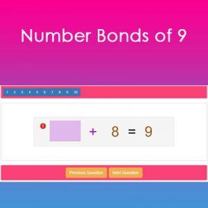 Number Bonds of 9 Number Bonds of 9