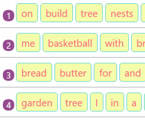 Rearranging Jumbled Words to Make Sentences Activity 7 Rearranging Jumbled Words to Make Sentences Activity 7