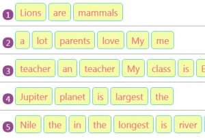 Rearranging Jumbled Words to Make Sentences Activity 24 Rearranging Jumbled Words to Make Sentences Activity 24