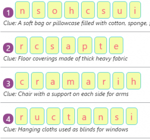 Missing Addend Worksheet 5 Things in the Living room – Spellings by Rearranging Jumbled Letters