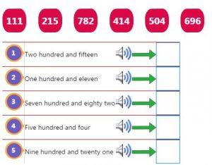 Three Digit Number Words Activity 1 Three Digit Number Words Activity 1