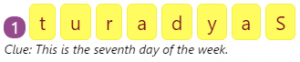 Missing Addend Worksheet 5 Spellings of the Days by Rearranging Jumbled Letters