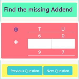 Addition Missing Addend Worksheet 1 Addition Missing Addend Worksheet 1