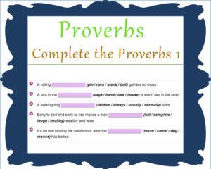 English Proverbs Activities 1 English Proverbs Activities 1