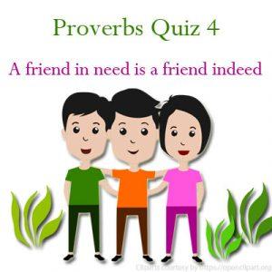 Conductors and Insulators Proverbs Quiz 4