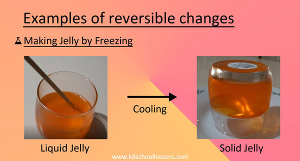 Reversible Changes Examples Making jelly