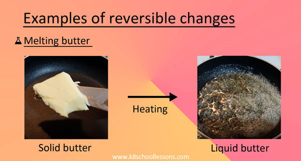 Examples Melting butter