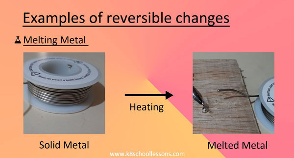 Examples Melting metal