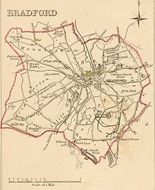 Bradford Boundaries 1835 shows examples for how a village grows