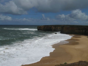 A picture of a headland at London Bridge aka London Arch on Great Ocean Road, Victoria, Australia.
