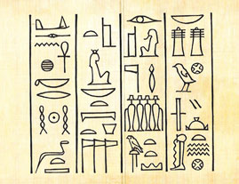 Hieroglyphics Egyptian letters