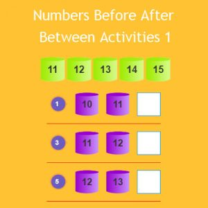 Numbers Before After Between Activities 1 Numbers Before After Between Activities 1